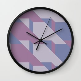 Lavender Way #society6 #lavender #pattern Wall Clock