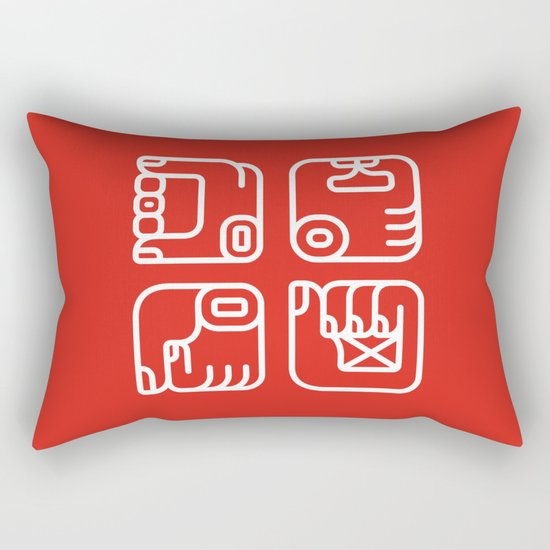 Mayan Glyphs ~ Hands Rectangular Pillow