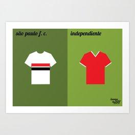 SPFC x Independiente Art Print