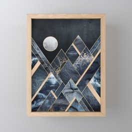 Stormy Mountains Framed Mini Art Print