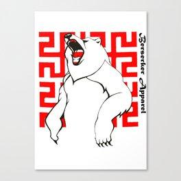 Berserker Bear Canvas Print