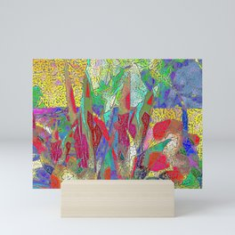 Summer In The Meadow Abstract Botanical Mini Art Print