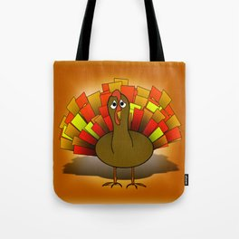 Worried Turkey Illustration Tote Bag