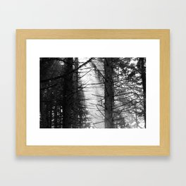 Thru the haze it comes Framed Art Print