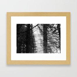 Thru the haze it comes Framed Art Print