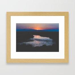 Long Valley Sunset Framed Art Print