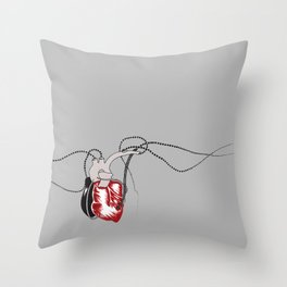 Composition in red and black Throw Pillow