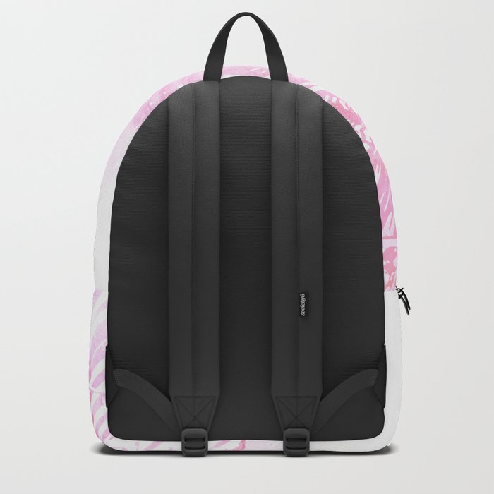 Abstract Pink Palm Tree Leaves Design Backpack