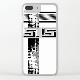 Creative Black and white pattern . The braided belts . ( men's , unisex) Clear iPhone Case