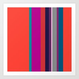 Spring collection - orange&orchid - strips Art Print
