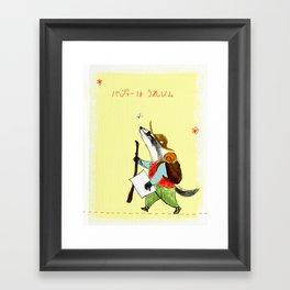 Badger In The Country Framed Art Print