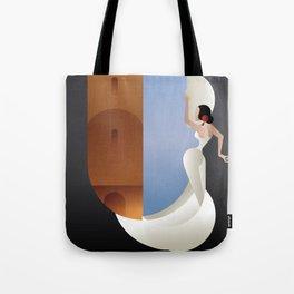 Art Deco styled Spain Flamenco dancer Tote Bag