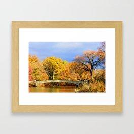 Bow Bridge in Autumn Framed Art Print