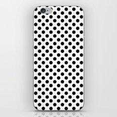 Black and white polka dots iPhone & iPod Skin
