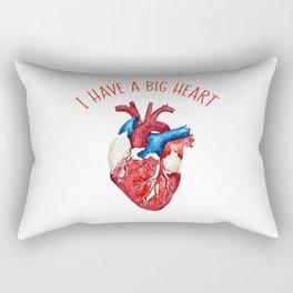 I Have A Big Heart Rectangular Pillow