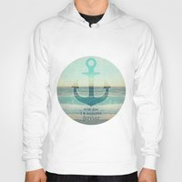 anchor Hoodies featuring ANCHOR by Monika Strigel