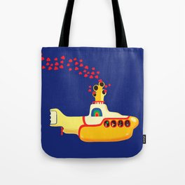 Yellow Submarine Bubbling Love Tote Bag