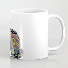 Paisley cat and butterfly Coffee Mug