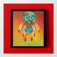dreamcatcher Canvas Prints featuring Dreamcatcher by Joe Ganech