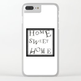 Home Sweet Home #3 Clear iPhone Case