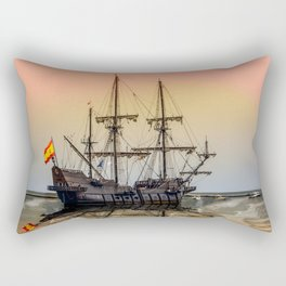 Sail Boston El Galeon Andalucia Rectangular Pillow