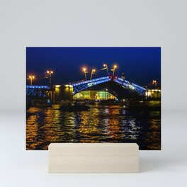 Raising bridges in St. Petersburg Mini Art Print