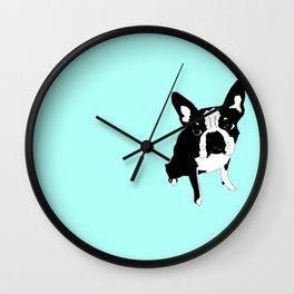 lucky luna in blue Wall Clock