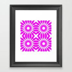 Hot Pink & White Pinwheel Flowers Framed Art Print