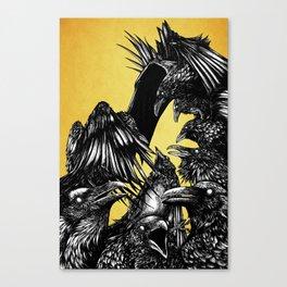 The Riot : Crows (Color version) Canvas Print