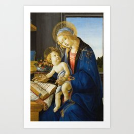 Botticelli  -  The Virgin And Child The Madonna Of The Book Art Print