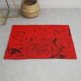 Some people grumble- Floral Red Rose Roses Flowers Garden Rug