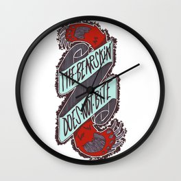 The bearskin does not bite Wall Clock