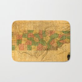 Map Of Tennessee 1832 Bath Mat