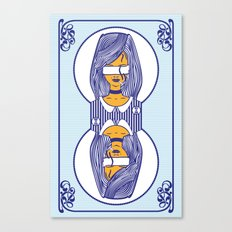 custom playing cards back (blue) Canvas Print