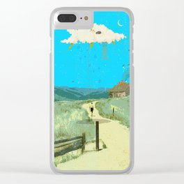 DREAMING IN FOOTHILLS Clear iPhone Case
