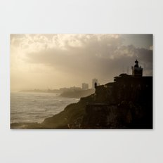 Puerto Rico From Old to New Canvas Print