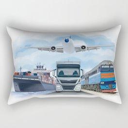 Cargo Transportation Vehicles Rectangular Pillow