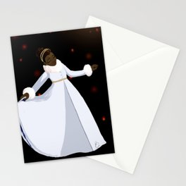 The Snow in the Moonlight Stationery Cards