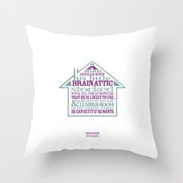 Sherlock Holmes novel quote – brain attic Throw Pillow