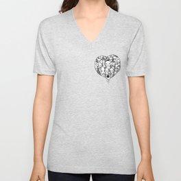 Heart Unisex V-Neck