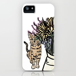 Cat and Bouquet iPhone Case