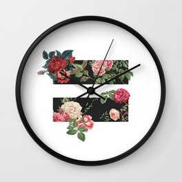 floral equality symbol Wall Clock