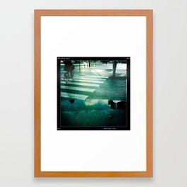 City Rain, City Streets Framed Art Print
