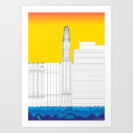 Chicago by the river #8 Art Print