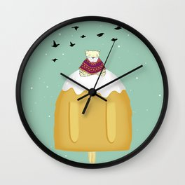 mountain meditation Wall Clock