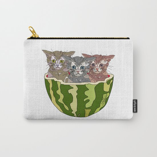 Watermelon Cats Carry-All Pouch