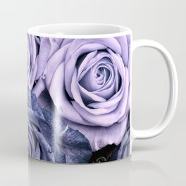 PURPLE ROSES floral flowers violet Coffee Mug