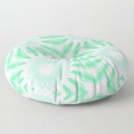 Seafoam Watercolor Pinwheel Flowers Floor Pillow