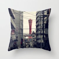 kobe Throw Pillows featuring Kobe Cables by Dora