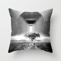 tree of life Throw Pillows featuring Life Tree by Murat Erturk